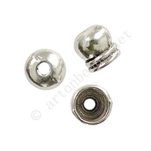*Bead Cone - Antique Silver Plated - ID 5.6mm - 15pcs