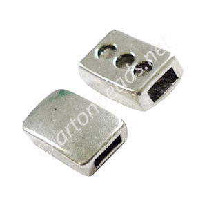 Slider - Antique Silver Plated - 6.2x2.4mm - 8pcs