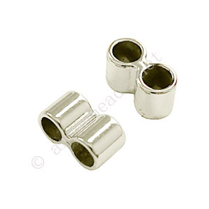 *Slider with 2 Holes - Antique Silver Plated - 7x13mm - 15pcs