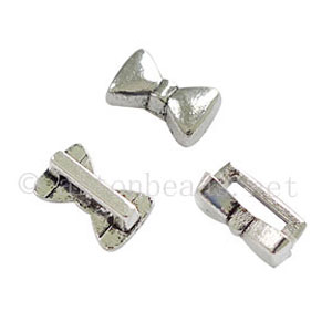 Slider - Antique Silver Plated - ID 6.4x1.7mm - 20pcs