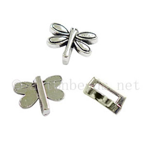 Slider - Antique Silver Plated - ID 6x1.6mm - 20pcs
