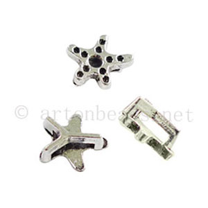 Slider - Antique Silver Plated - ID 6x1.7mm - 20pcs