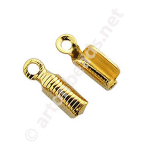 *Fold-over Clamp - 18k Gold Plated - 2mm - 50pcs
