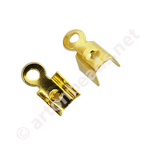 Fold-over Clamp - 18k Gold Plated - 3mm - 100pcs