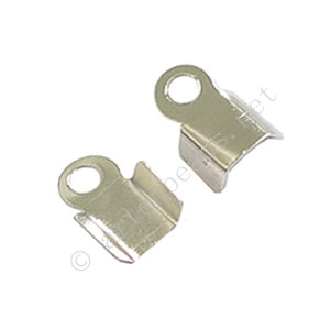 Fold-over Clamp - 925 Silver Plated - 1.5mm - 90pcs