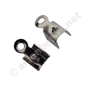 Fold-over Clamp - Gun Metal Plated - 3mm - 50pcs