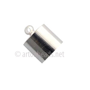Glue-On Bellcap - 925 Silver Plated - 7mm - 20pcs