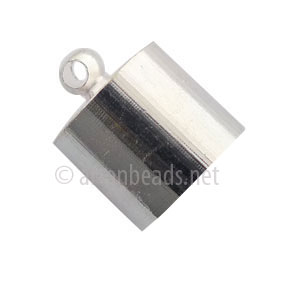 Glue-On Bellcap - 925 Silver Plated - 11mm - 10pcs