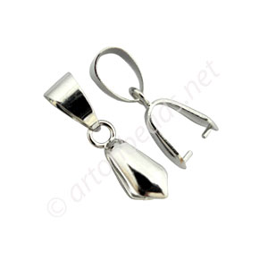 Bail - White Gold Plated - 11mm - 4pcs