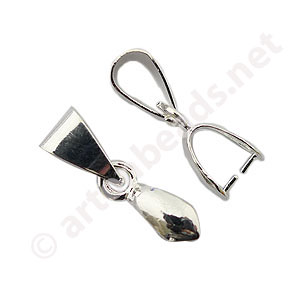 Bail - 925 Silver Plated - 10mm - 8pcs