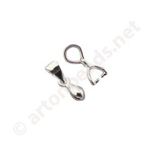 Bail - 925 Silver Plated - 4.5mm - 10pcs - Click Image to Close