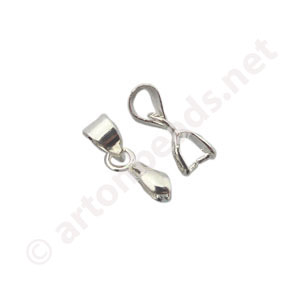 Bail - 925 Silver Plated - 6mm - 10pcs
