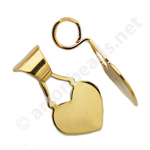 Glue-on Bail - 18k Gold Plated - 29.3mm - 6pcs