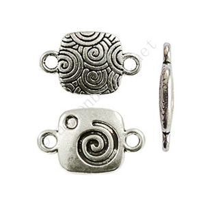 Connector - Antique Silver Plated - 18.7x11.8mm - 10pcs