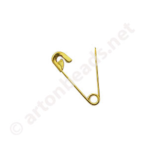 Safety Pin - 18k Gold Plated - 22mm - 100pcs