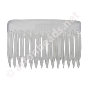 Hair Comb - Clear - 73mm - 4pcs