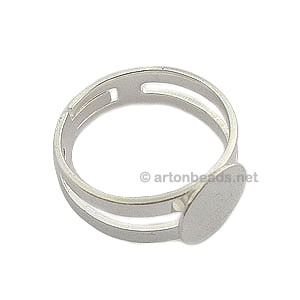 Ring Base 925 Silver Plated - Adjustable - 9mm - 4pcs