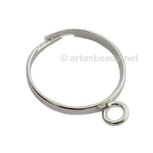 Ring Base 925 Silver Plated - Adjustable - 6pcs