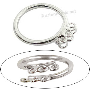 Ring Base 925 Silver Plated - Adjustable - 3pcs