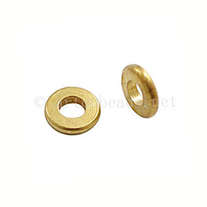 Metal Beads - 18k Gold Plated - ID 3.2mm - 30pcs