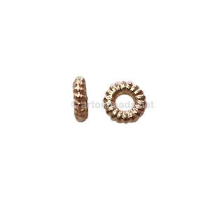 Base Metal Spacer Bead - 18k Gold Plated - 5mm - 100pcs