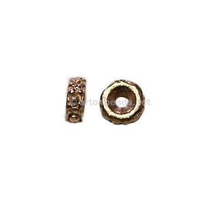 *Base Metal Spacer Bead - 18k Gold Plated - 5mm - 70pcs
