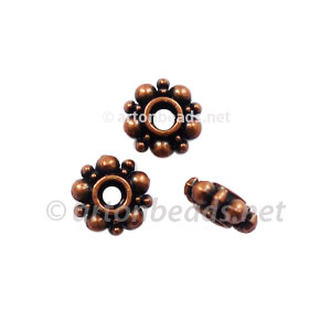 Base Metal Spacer Bead - Antique Copper Plated - 6mm - 60pcs