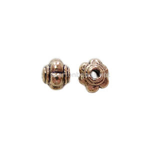 Base Metal Spacer Bead - Antique Gold Plated - 5mm - 70pcs