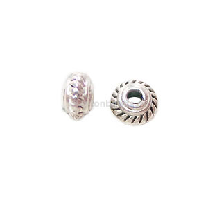 Base Metal Spacer Bead - Antique Silver Plated - 5mm - 100pcs