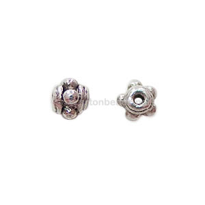 Base Metal Spacer Bead - Antique Silver Plated - 5mm - 70pcs