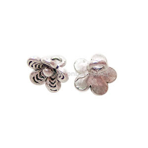 Base Metal Spacer Bead - Antique Silver Plated - 7x9mm - 25pcs