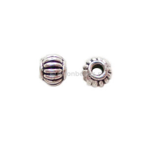 *Base Metal Spacer Bead - Antique Silver Plated - 5mm - 70pcs