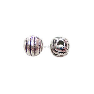Base Metal Spacer Bead - Antique Silver Plated - 4mm - 50pcs - Click Image to Close