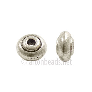 Base Metal Spacer Bead - Antique Silver Plated - 7mm - 30pcs