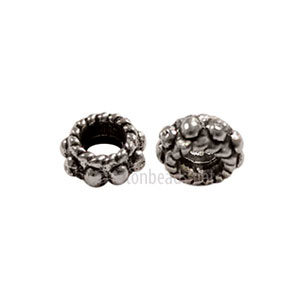 *Base Metal Spacer Bead - Antique Silver Plated - 5x3mm - 70pcs