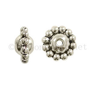 *Base Metal Spacer Bead - Antique Silver Plated-7.2x10m-20pcs
