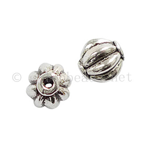 *Base Metal Spacer Bead - Antique Silver Plated-6.4x5.7m-40pcs