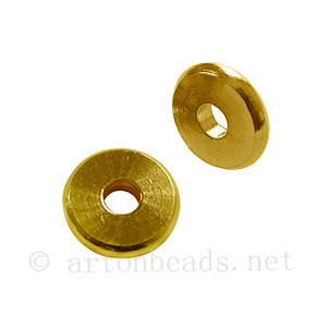 Metal Beads - 18k Gold Plated - ID 3mm - 20pcs
