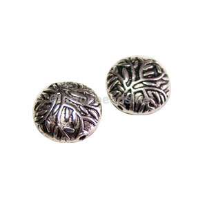 Metal Bead - Antique Silver Plated - 12mm - 10pcs