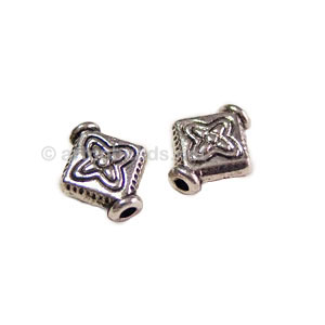 *Metal Bead - Antique Silver Plated - 10x9mm - 30pcs