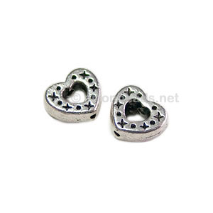 *Metal Bead - Antique Silver Plated - 7mm - 40pcs