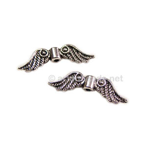 Metal Bead - Antique Silver Plated - 7x24mm - 20pcs