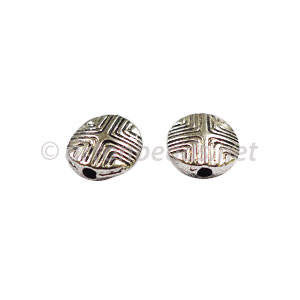 *Metal Bead - Antique Silver Plated - 8mm - 25pcs