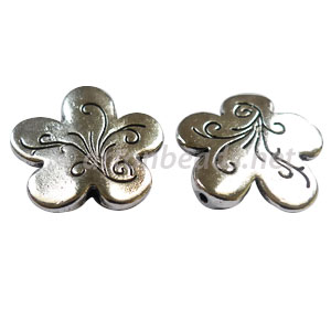 Metal Bead - Antique Silver Plated - 23mm - 4pcs