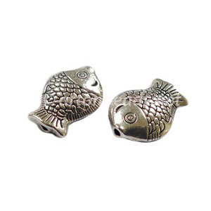 *Metal Bead - Antique Silver Plated - 10x14mm - 15pcs