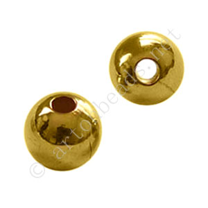 Brass Base Beads - 18k Gold Plated - 10mm - 6pcs