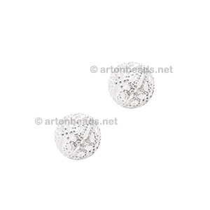 Filigree Metal Beads - 925 Silver Plated - 4mm - 50pcs