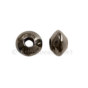 Brass Base Beads - Gun Metal Plated - 5x3mm - 100pcs