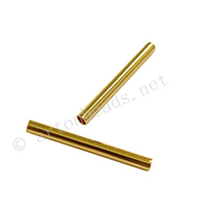Tube - 18k Gold Plated - ID 2mm - 25pcs