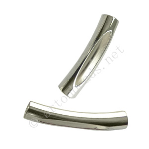 Tube - 925 Silver Plated - ID 3mm - 15pcs